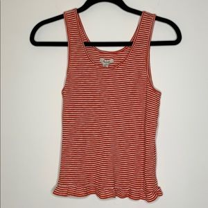 Madewell Striped Ruffle Tank